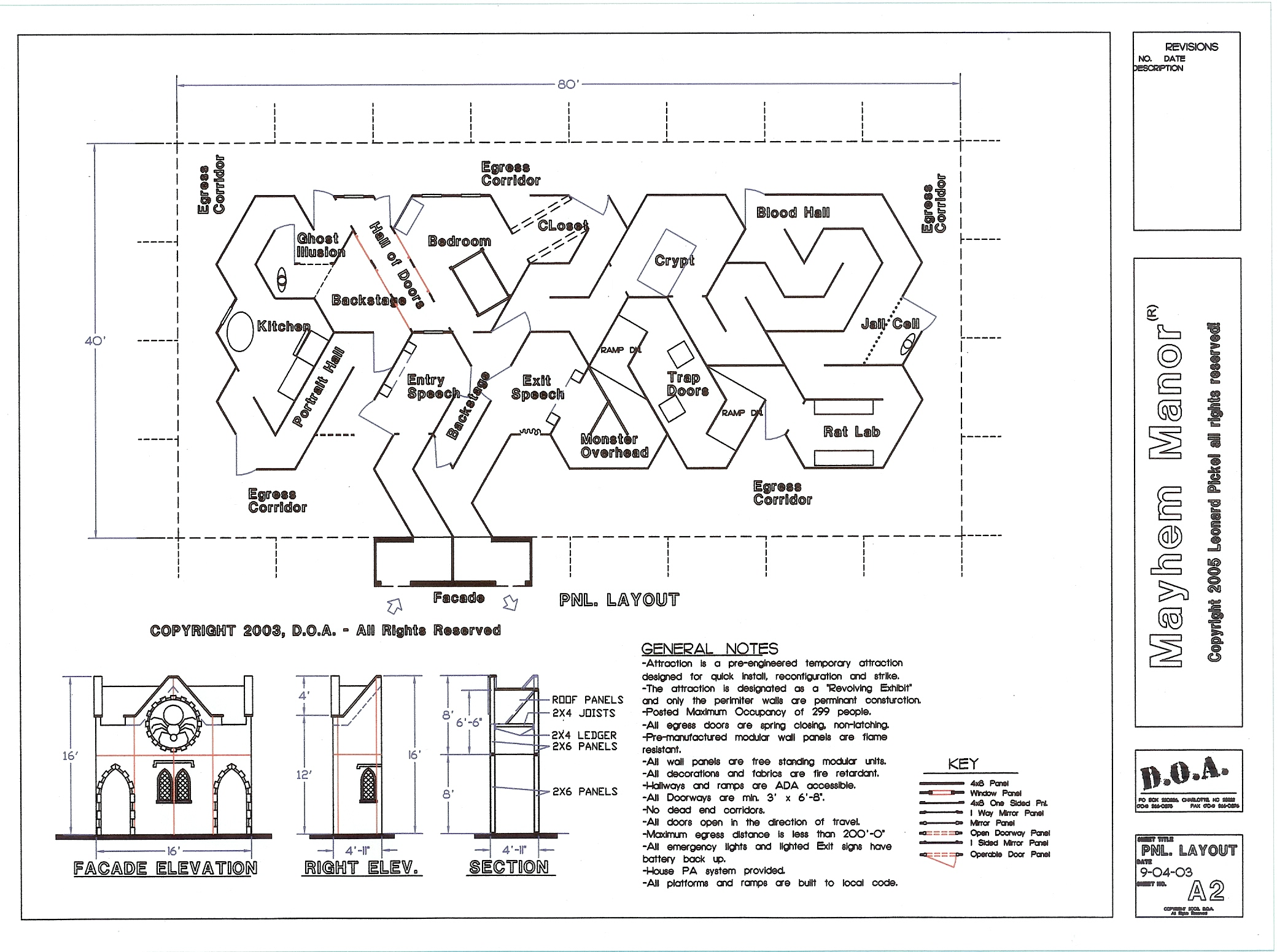 Haunted house maze layouts