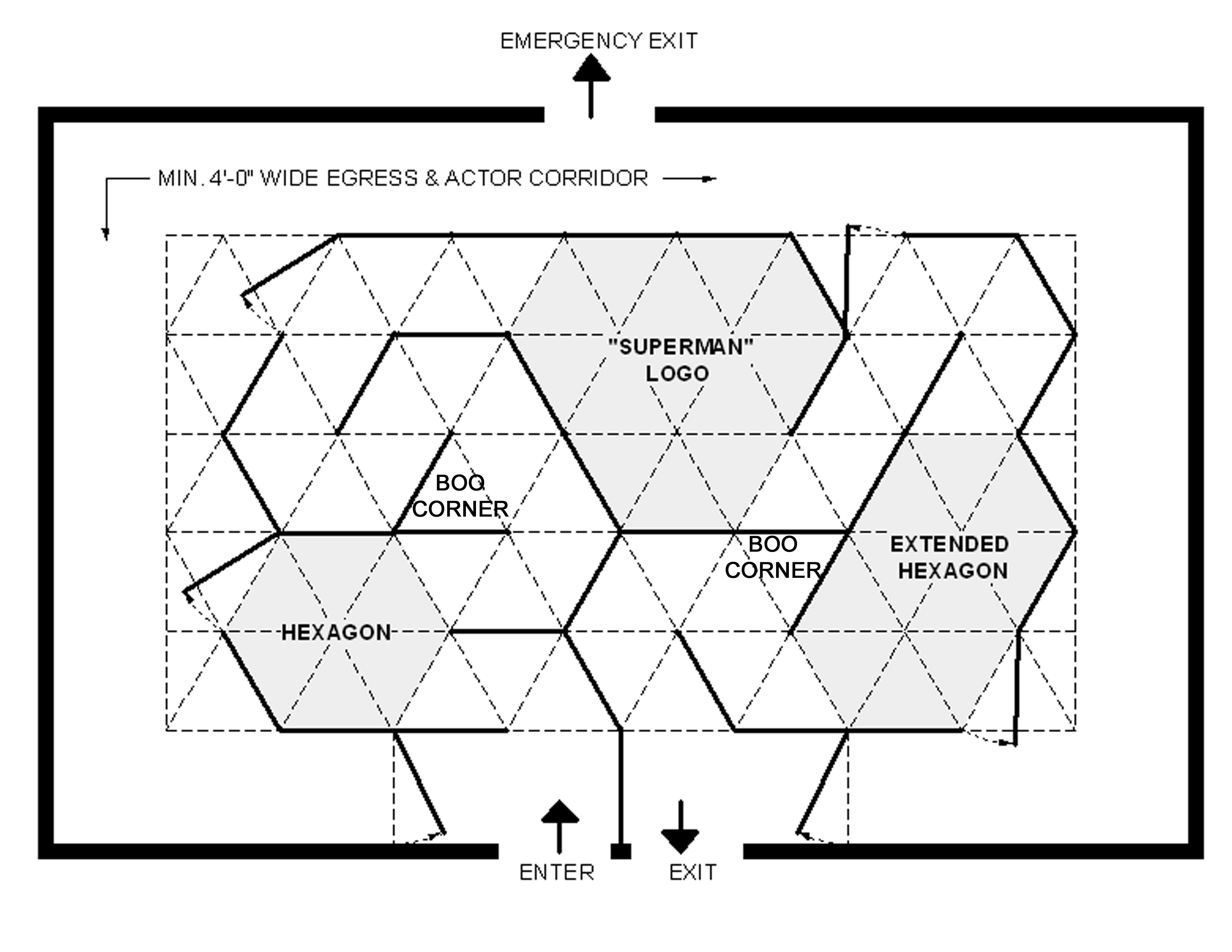 Taking A Lesson From Architectural Design Think Of Developing The Rooms Of Your Attraction First The Rooms Of A Triangular Grid Attraction Are Not